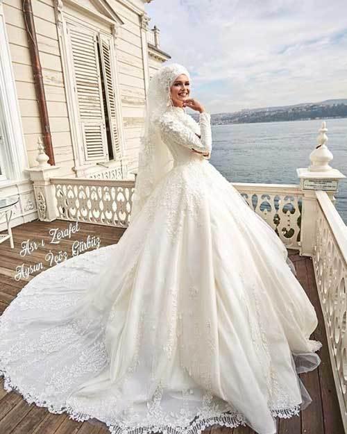 a398145b47cda En Güzel Tesettürlü Gelinlik Modelleri - Düğün Telaşı