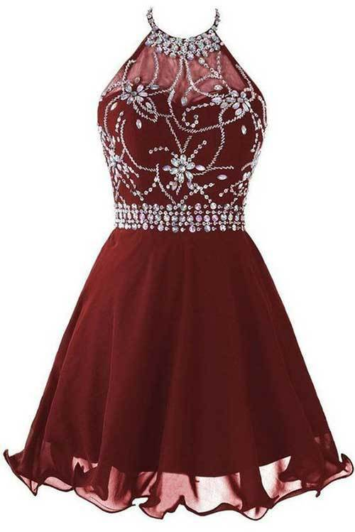 Elbise Modelleri Abiye Kısa-16