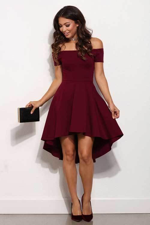 Kırmızı Elbise Modelleri Abiye Kısa