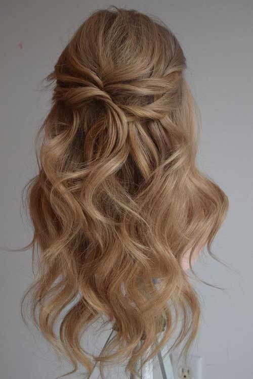 Yarı Açık Gelin Saçı Modelleri