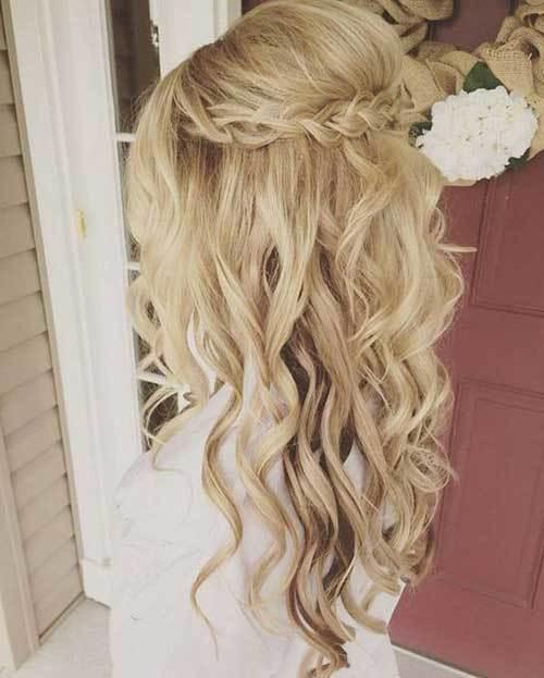 Yarım Açık Gelin Saçı Modelleri