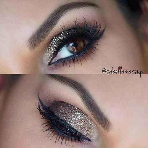 Kahverengi Gözlüler için Göz Makyajı Önerileri-17
