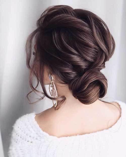Abiye Topuz Saç Modelleri