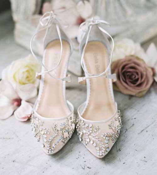 Dantelli ve Taşlı Gelin Ayakkabısı Önerileri