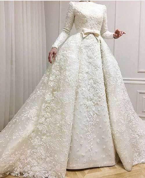 Elegant Prenses Gelinlik Tesettür