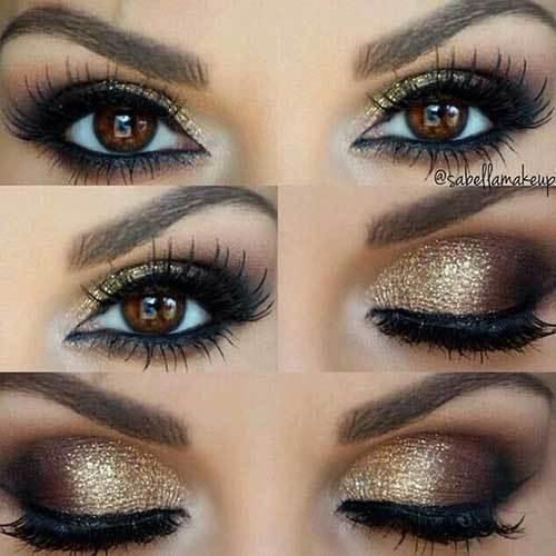 Kahverengi Gözler için Göz Makyajı