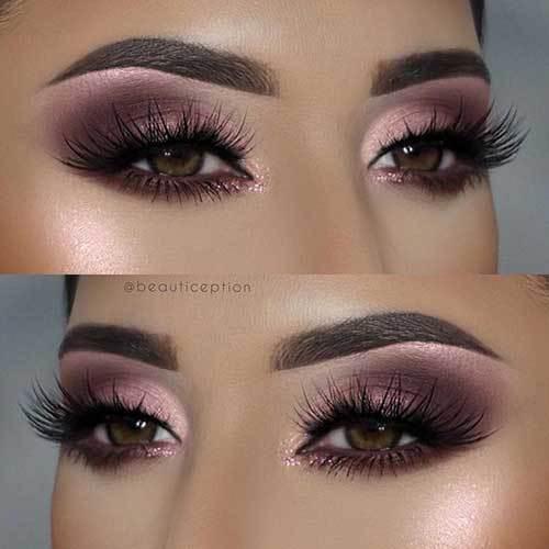 Koyu Kahverengi Göz Makyajı