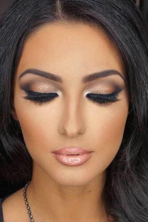 Koyu Kahverengi Gözlüler için Göz Makyajı Önerileri