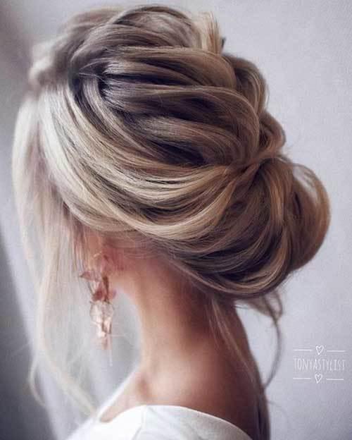 Abiye Saç Modelleri Modern Topuz