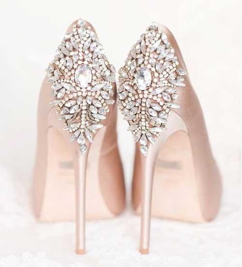 Taşlı Gelin Ayakkabısı Modelleri