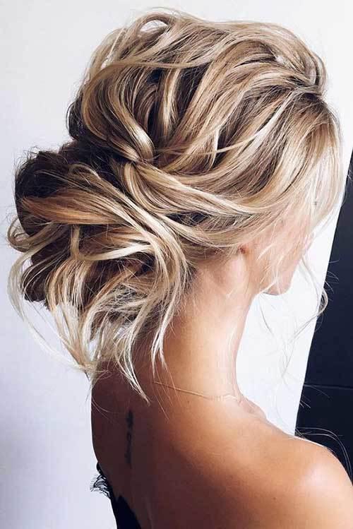 Sarı Abiye Saç Modelleri Topuz