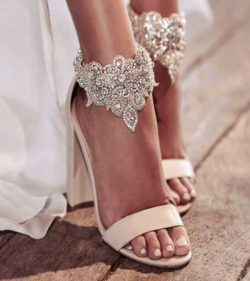 Yüksek Topuklu Gelin Ayakkabısı Modelleri