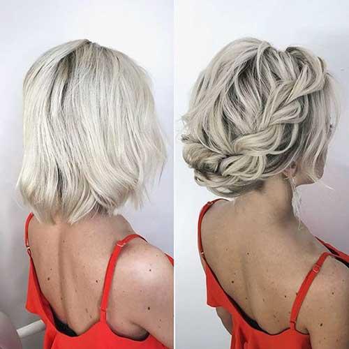 Örgülü Taç Kısa Abiye Saç Modelleri