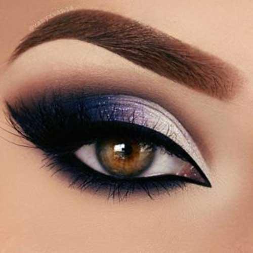 Abiye Mavi Göz Makyajı-10