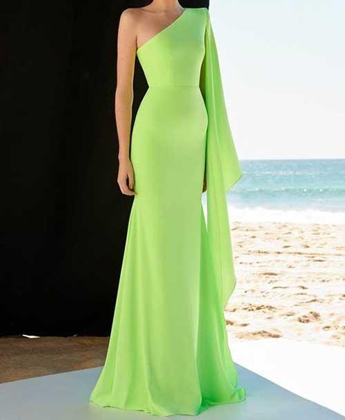Açık Yeşil Uzun Abiye Modelleri-11