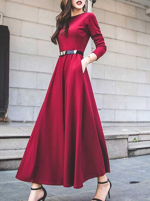 Kırmızı Uzun Abiye Modelleri-12