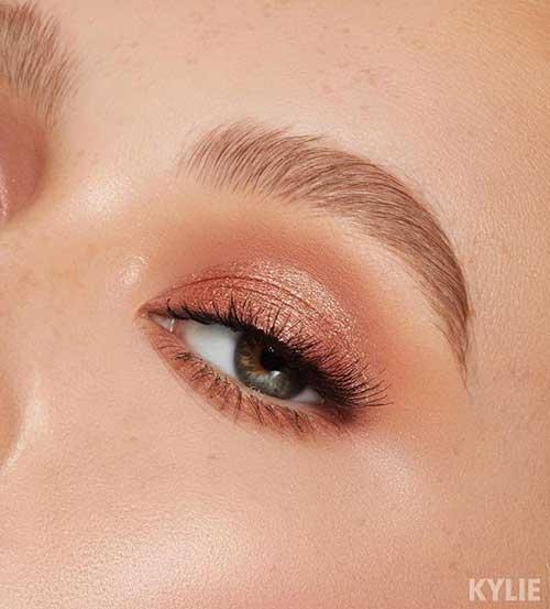 Şeftali Abiye Göz Makyajı-14