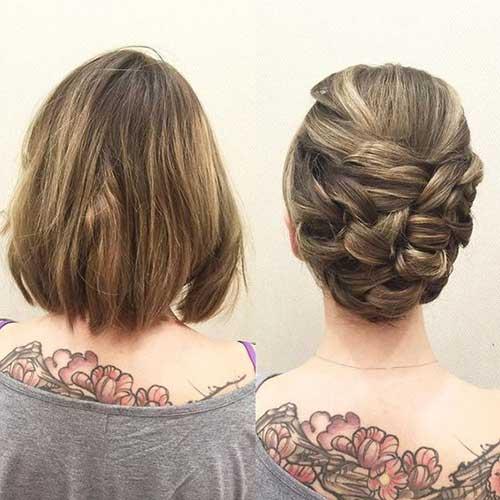 Kısa Abiye Topuz Saç Modelleri