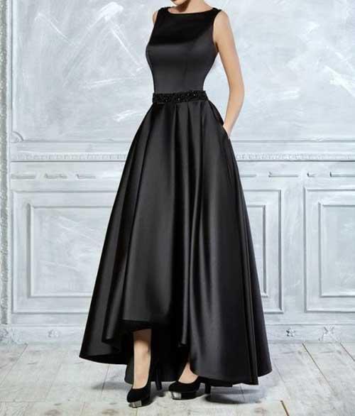 Siyah Uzun Abiye Modelleri-19