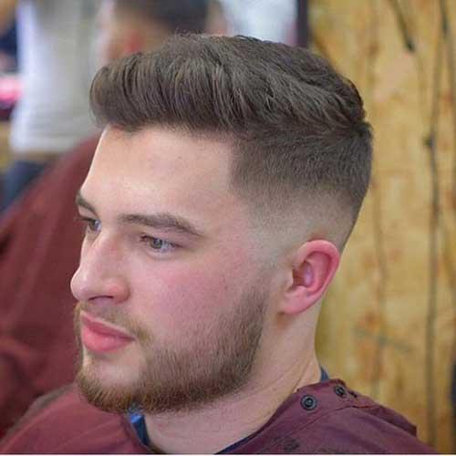 Yanları Tıraşlı Damat Saç Sakal Modelleri-8