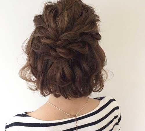Dalgalı Kısa Abiye Saç Modelleri