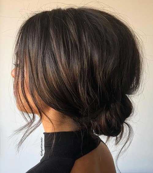 Ense Topuzu Kısa Abiye Saç Modelleri