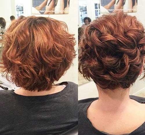 Kıvırcık Kısa Abiye Saç Modelleri