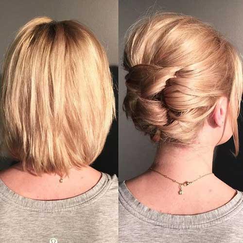 Klasik Kısa Abiye Saç Modelleri