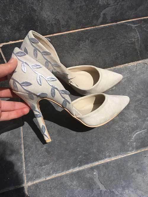 Desenli Gelinlik Ayakkabı Modelleri-10