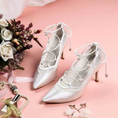 Bağcıklı Gelinlik Ayakkabı Modelleri-11