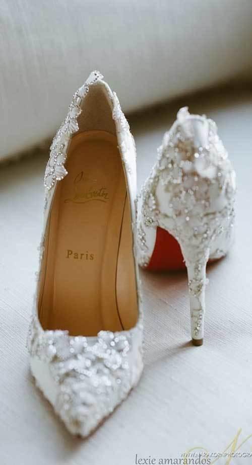 İşlemeli Gelinlik Ayakkabı Modelleri-12