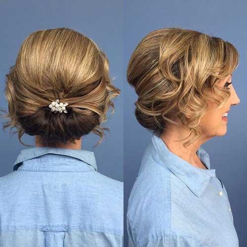 Gelin Annesi Düşük Topuz Saç Modelleri-12