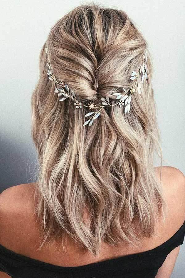 Düğün Yarım Saç Modelleri-13