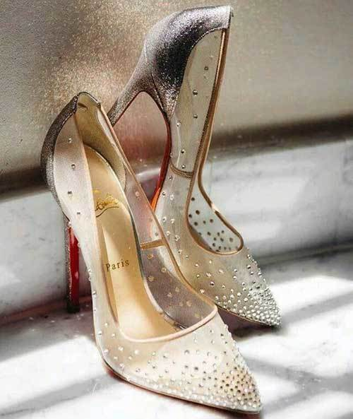 Tül Gelinlik Ayakkabı Modelleri-13