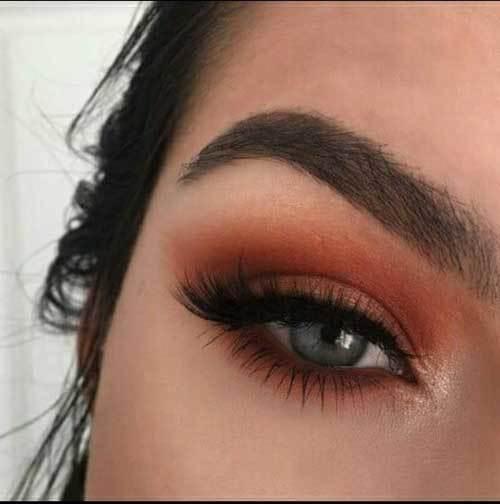 Buğulu Şeftali Ton Göz Makyajı-14
