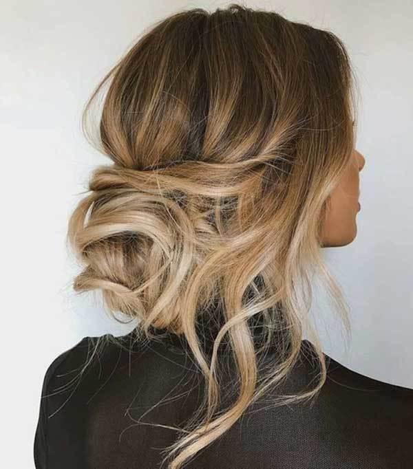 Düğün için Dağınık Topuz Saç Modelleri-15