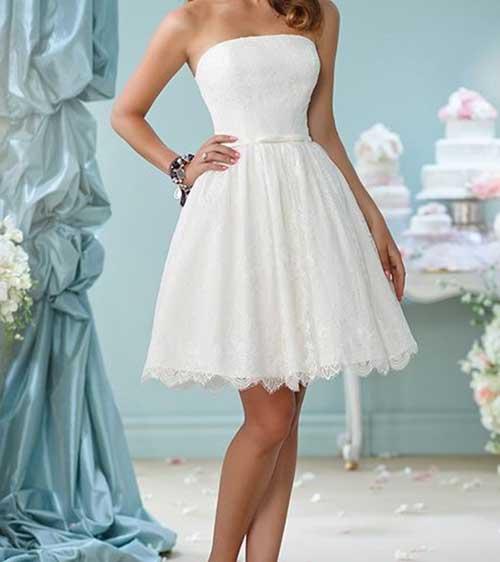 Kısa Nikah Elbisesi Modelleri-16