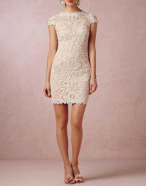 Dantel İşlemeli Nikah Elbisesi Modelleri-17