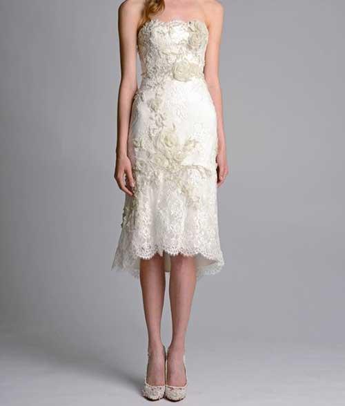 Önü Kısa Nikah Elbisesi Modelleri-18