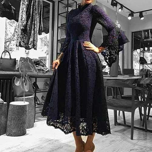 Siyah Dantelli Tesettür Abiye Modelleri-18