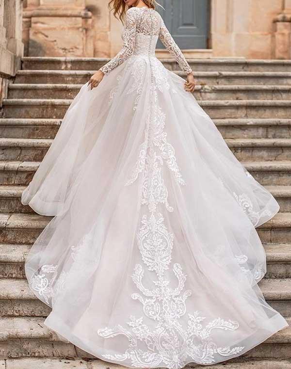 Prenses Dantelli Gelinlik Modelleri-19