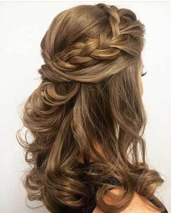 Düğün Yarım Saç Modelleri-24