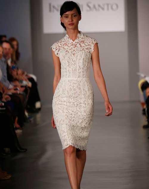 Beyaz Desenli Nikah Elbisesi Modelleri-6