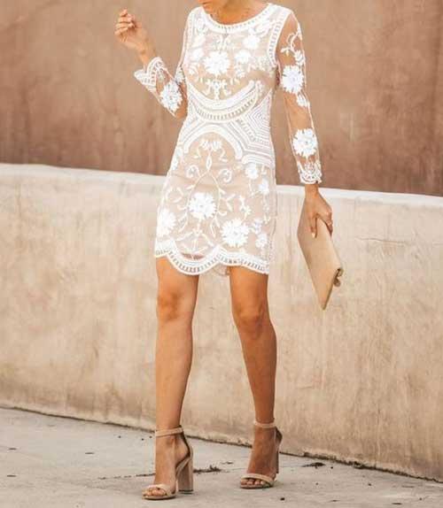 Beyaz Motifli Nikah Elbisesi Modelleri-8