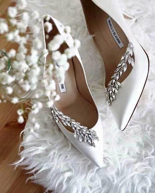 Zarif Gelinlik Ayakkabı Modelleri-8