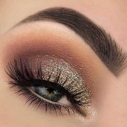 Buğulu Işıltılı Göz Makyajı-9