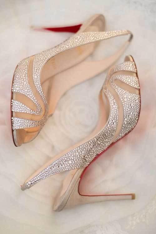 Taşlı Gelinlik Ayakkabı Modelleri-9