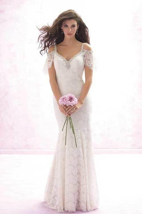 Beyaz Uzun Nikah Elbisesi-10