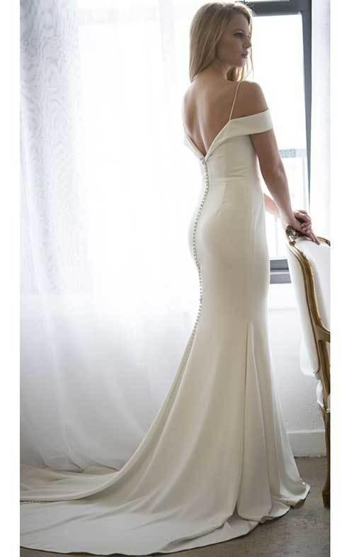 Beyaz Balık Model Nikah Elbisesi-16