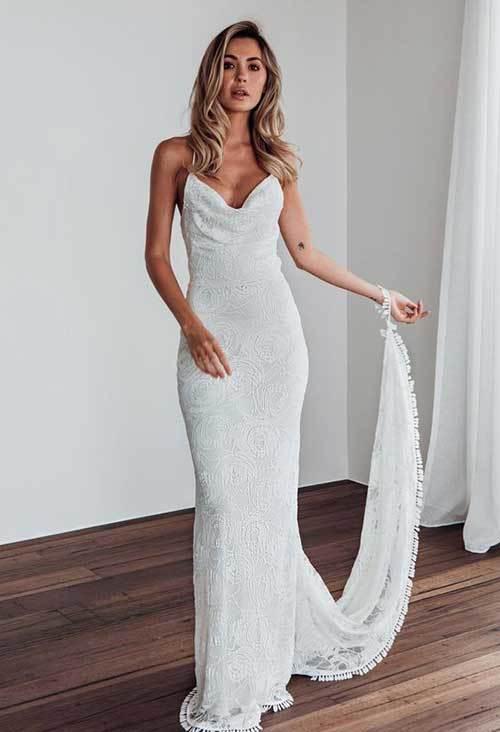 Uzun Kuyruklu Nikah Elbisesi-18